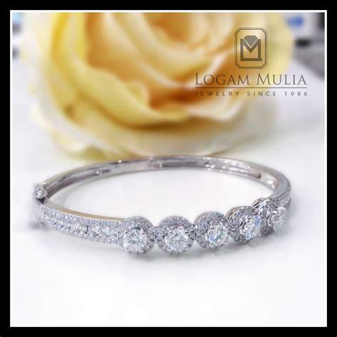 jual gelang berlian kaku arbg rk bg102342b logammuliajewelry