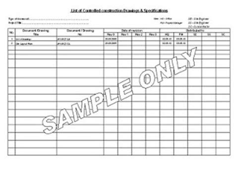 Dispute Register Template Construction Manager Drawing Or Document Register