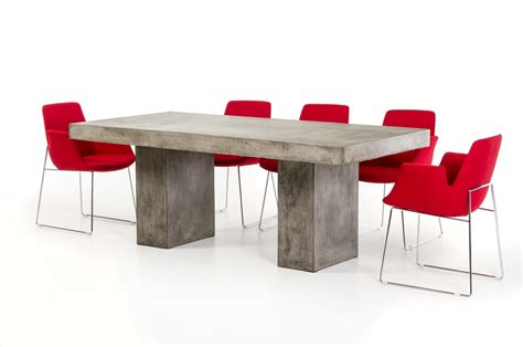 concrete dining room table modrest saber modern concrete dining table modern dining