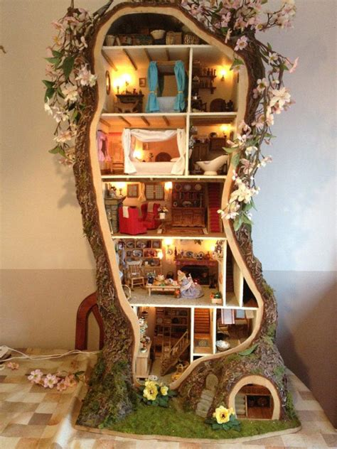 Miniature Tree House Displaying Stunning Details By Maddie Brindley Freshome Com