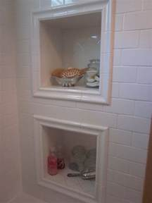 framed shower niche boca grande rehab bathroom pinterest