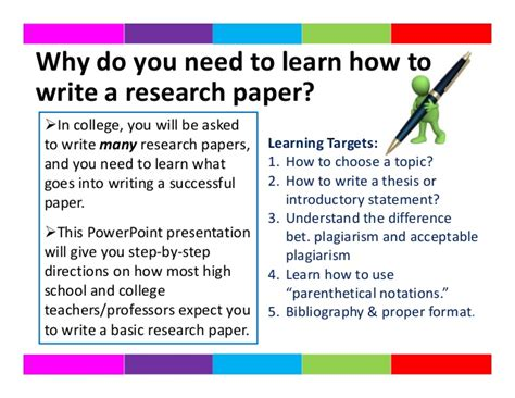 how to write paper how to write a research paper