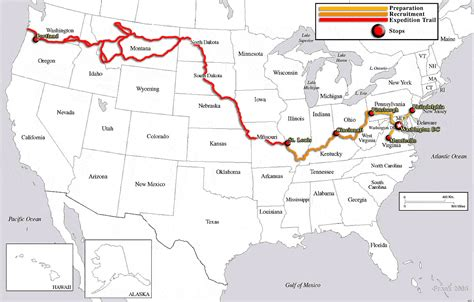 lewis and clark expedition lewis and clark expedition route lewisclarkroutemap gif