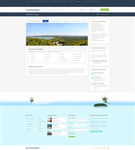 Responsive Design Vorlage Responsive Hotel Und Reiseportal Zum Verkauf 187 Textag Webdesign Werbung R 252