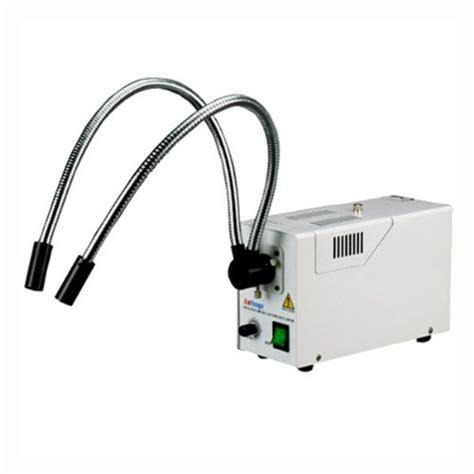 microscope fiber optic light source amscope hl250 ay dual gooseneck fiber optic stereo
