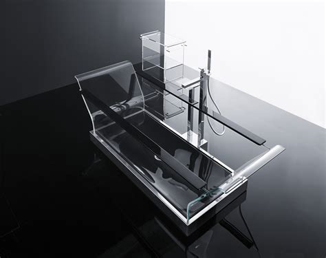 glass bathtubs glass bathing clearly stunning