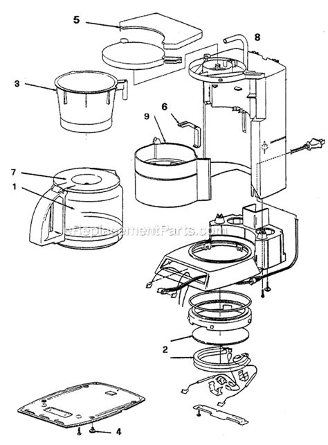bunn grb coffee maker manual mr coffee prx33 parts list and diagram