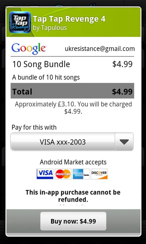 in app purchase android in app billing now live on android market eurodroid