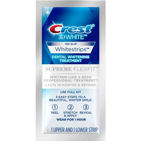 crest whitestrip supreme crest 3d white supreme whitestrips flexfit 2017 купить