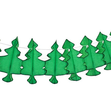 christmas tree tissue paper honeycomb garland pipii