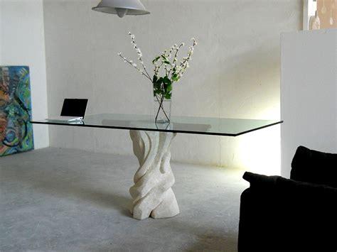 tavoli soggiorno cristallo tavolo da pranzo mezzaluna cherry in pietra e cristallo