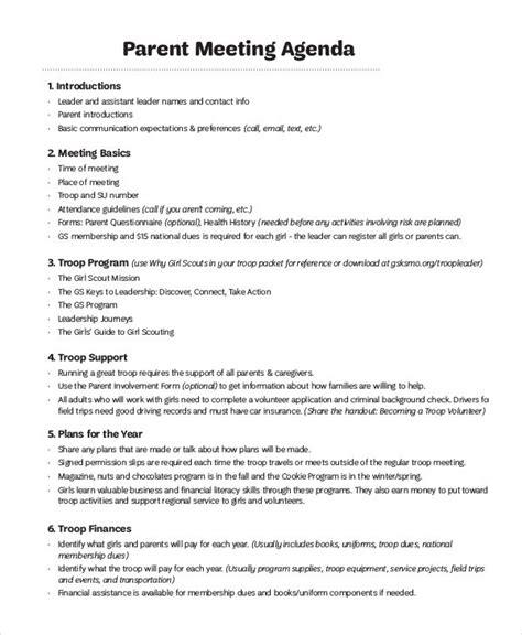 Parent Meeting Agenda Template 41 Meeting Agenda Templates Free Premium Templates