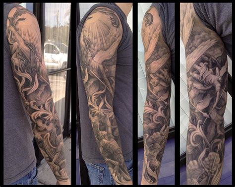 paradise lost tattoo gustave dore sleeve by pepper tattoos