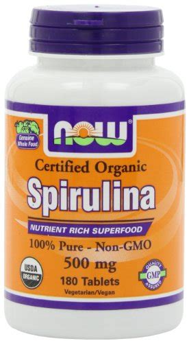 Healthy Care Spirulina 1000 Mg Isi 400 Tablet now foods organic spirulina 500mg tablets 180 tablets 733739027047 toolfanatic