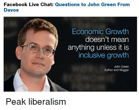 facebook live chat questions to john green from davos