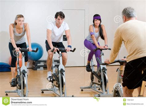 Spinning Bike Sport Id 9 2n spinning exercises with instructor stock image image