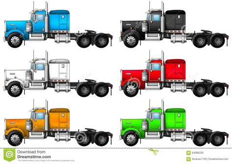 kenworth truck colors image of truck kenworth w900 stock photo illustration