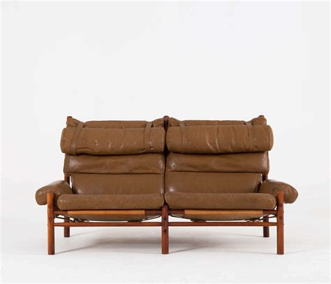 cognac buffalo leather inka sofa by arne norell at 1stdibs