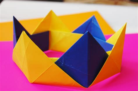 How To Make A Paper Tiara - how to make a paper crown origami