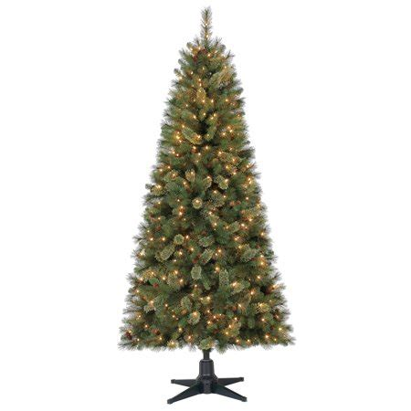 duncan fir tree time 7ft pre lit brookfield fir set artificial tree with 350