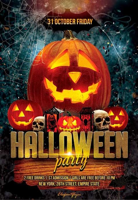 templates for halloween flyers halloween party free flyer psd template http
