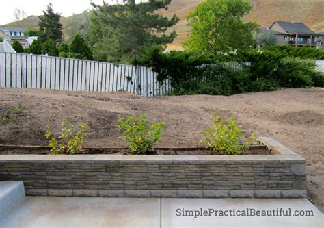 A Small Retaining Wall Simple Practical Beautiful How To Build A Garden Wall On A Slope