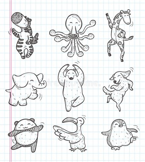 doodle jump x2 doodle animal icons stock vector image of rhythm