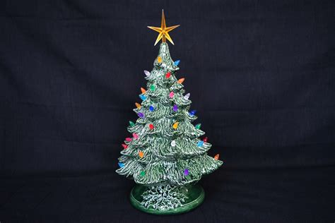 vintage style lighted christmas tree 16 inch size classic