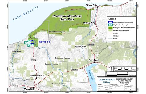 michigan state land map dnr dnr announces exploratory copper drilling project at