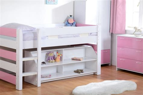 Bunk Beds For Sell Lollipop Single Mid Sleeper Childrens Bunk Bed Pink Blue Storage Shelves Ebay