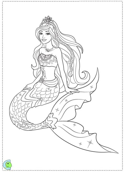 barbie mermaid coloring pages getcoloringpagescom sketch