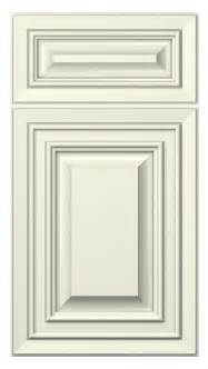 florence door style painted antique white kitchen