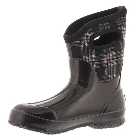 bogs winter boots bogs classic winter plaid mid s boot ebay