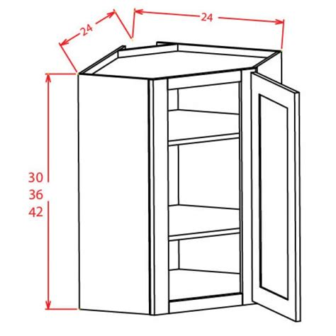 wall diagonal corner cabinet dcw2430gd shaker gray wall diagonal prepped for glass door