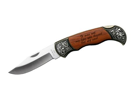 Wedding Gift Engraving Quotes by Custom Engraved Quote On Rosewood Pocket Knife Gift