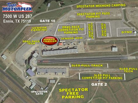 texas motorplex seating map event alert nhrda world finals sept 30 oct 1 in ennis tx