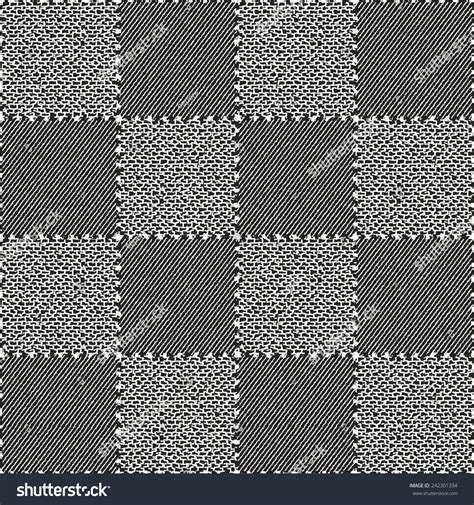 Patch Background Check Different Textured Check Patch Stitched Background Stock