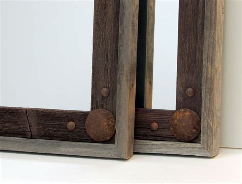 mirror frames rustic reclaimed wood mirror frames