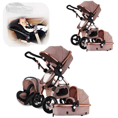 foldable car seat for 1 year 3 in 1 luxury baby stroller high view pram foldable