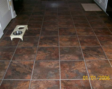 vinyl plank flooring ideas with brown tile for home