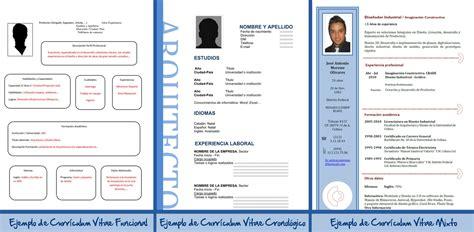 Modelo De Curriculum Vitae Cronologico Word Modelo De Curriculum Vitae Mixto Modelo De Curriculum Vitae
