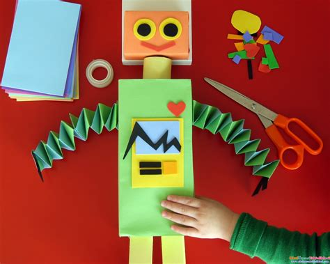 How To Make A Simple Robot With Paper - okul 246 ncesi robot yap箟m箟 246 rnekleri okul 214 nces箘