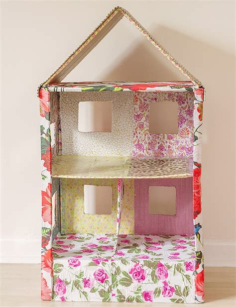 how to make a cardboard house for dolls diy barbie furniture and diy barbie house ideas creative