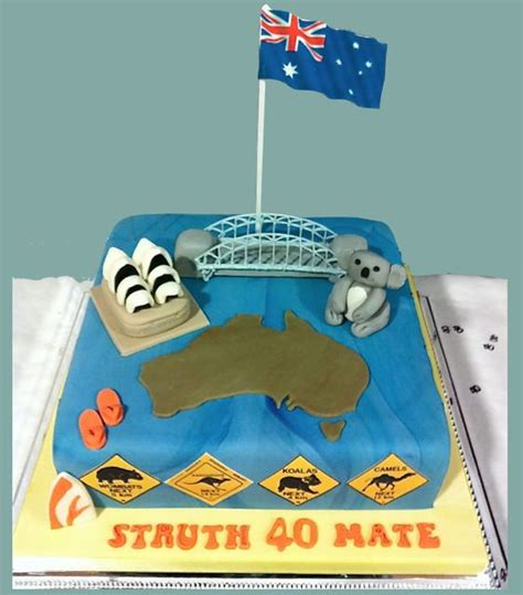 australian themed party uk adult cakes rathbones bakery upholland
