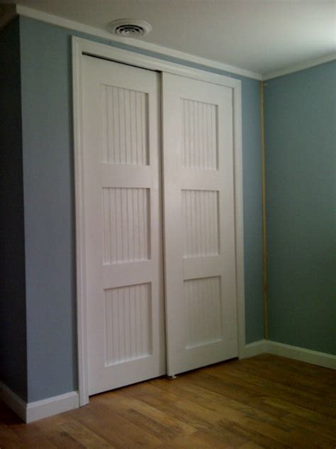 doors closet white bypass closet doors diy projects