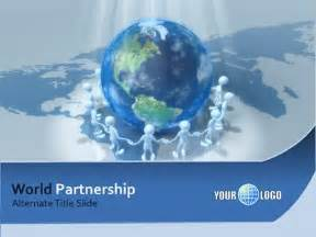 powerpoint templates world world partnership a powerpoint template from