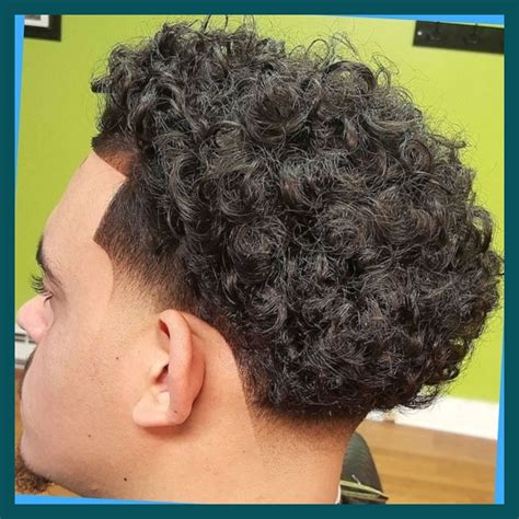 taper fade curly hair elegant and also attractive curly hair with taper fade