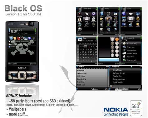 nokia themes v black os theme v1 4 for s60 by onozendai on deviantart