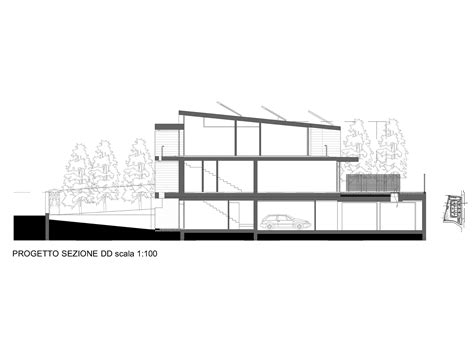 residential building section gallery of residential wood building in selvino camillo