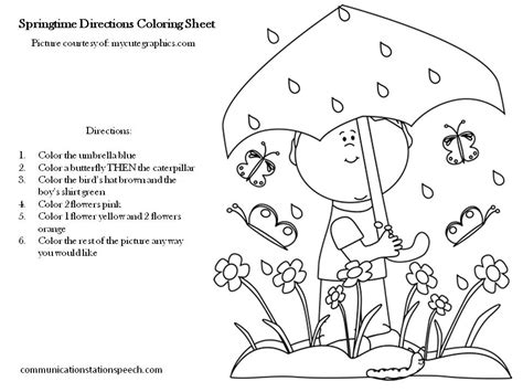 parts of speech coloring page